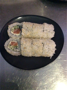Foto Sake cheese roll